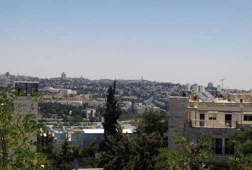 View of Jerusalem from Hagihon Building