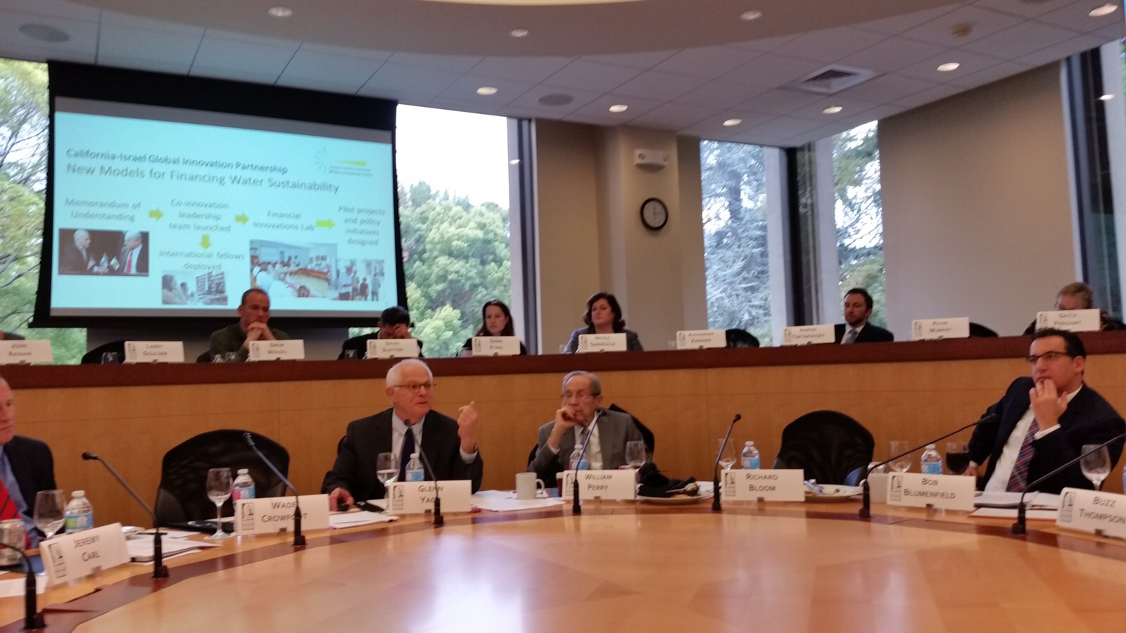 CALIFORNIA-ISRAEL WATER INNOVATION ROUNDTABLE-HOOVER INSTITUTE 2016