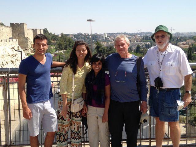 Global Fellows class of 2015 with Avner Goren, archaeologist